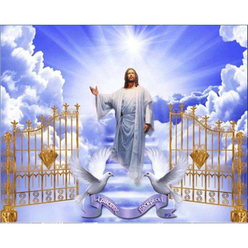 5d Diy Diamante Pintura Jesus Cristo Pastor Rodada Completa Cristal Mosaico Bordado Ponto Cruz Cristã Para Casa Decoração Da Parede