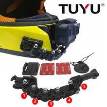 TUYU casque accessoires caméra moto casque support vélo réglable boucle pour Go Pro Hero 6 5 SJ4000 EKEN H9 xiaomi Yi