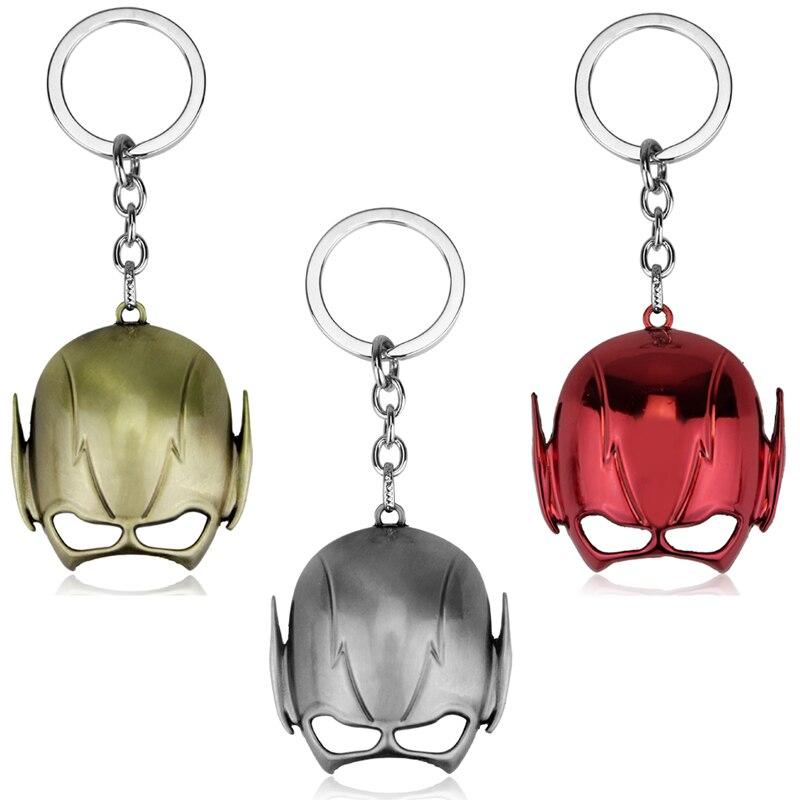 Dongsheng accesorios de moda para hombres llavero personalizado DC Comics joyería llavero la máscara de Flash llaveros