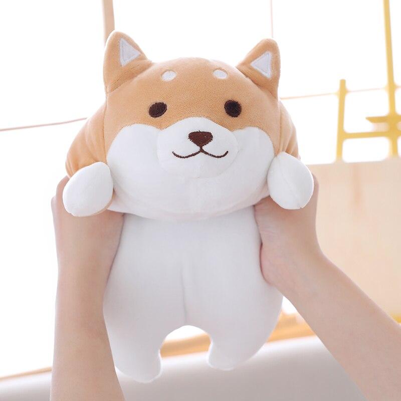 Lindos juguetes de bebé rellenos de felpa Shiba Inu, almohada de felpa Chai perro rechoncho súper suave, almohada de trasero de perro, juguetes para niños y amigos, regalos de navidad