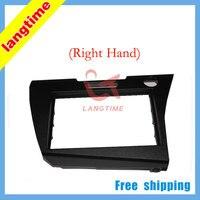 Free shipping-Car refitting DVD frameDVD panelDash KitFasciaRadio FrameAudio frame for 2010 Honda CRZ(right).2 DIN