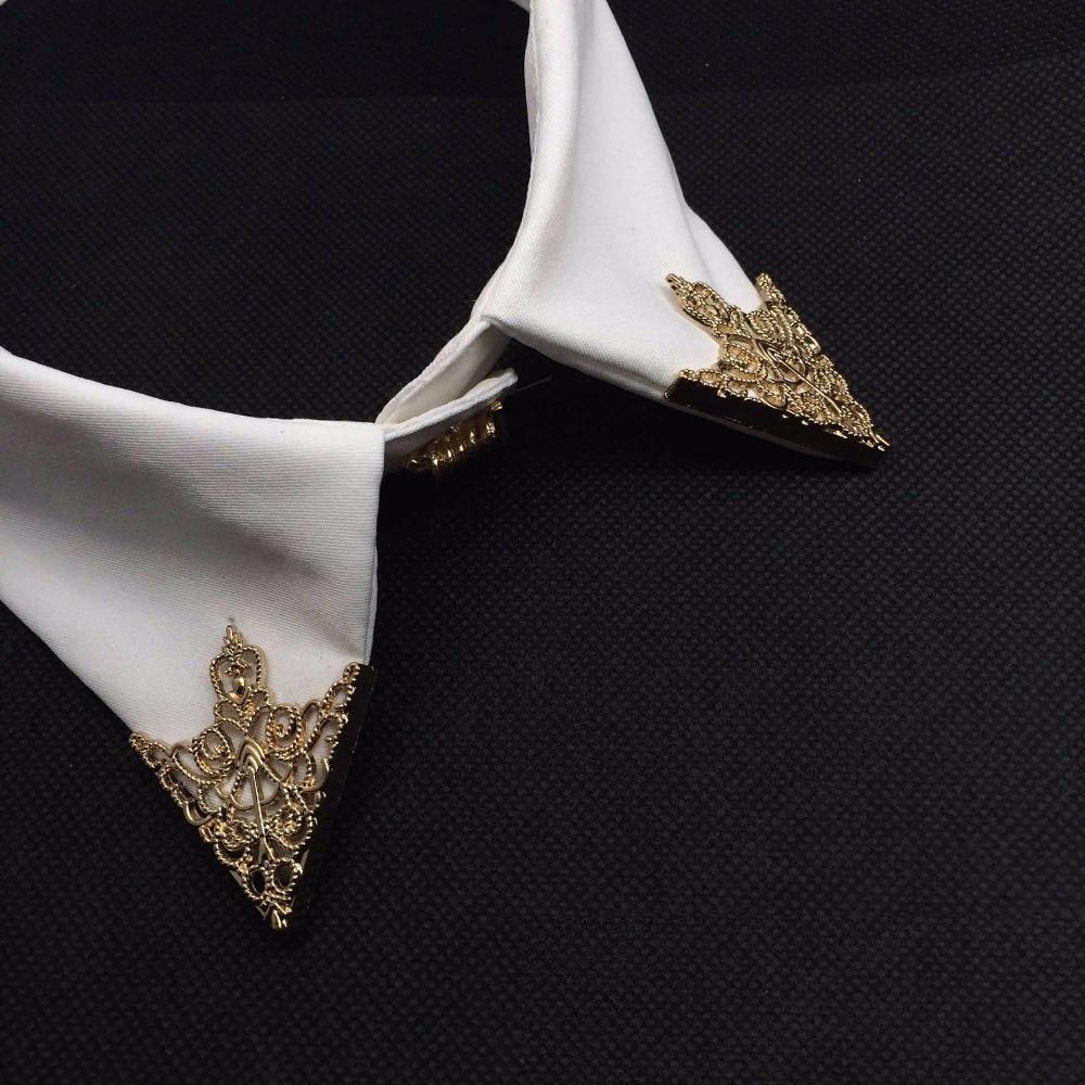 Misananryne moda feminina liga de ouro cor oco padrão colar ângulo palácio retro camisas broche pino colar jóias