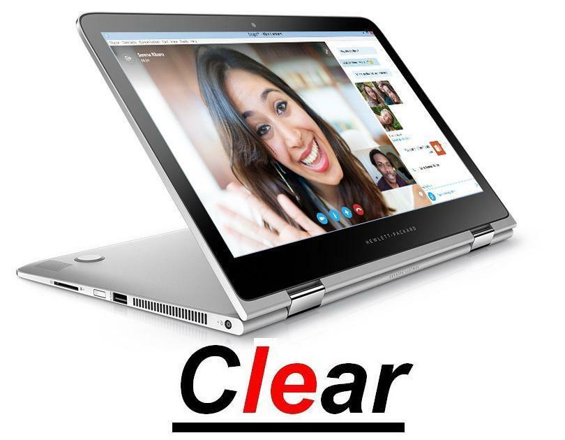 """2 filtros de funda protectora de pantalla Ultra transparente para ordenador portátil HP Spectre X360 de 13,3 """", Convertible y con pantalla táctil"""