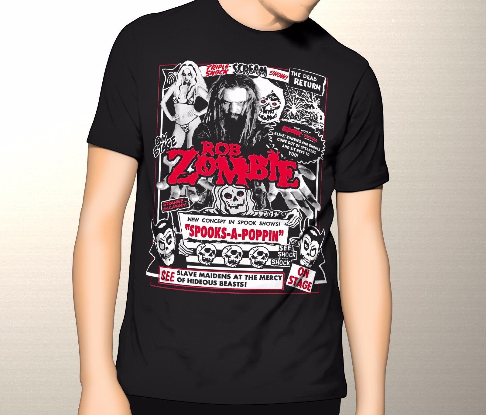 Rob Zombie muerto volver HORROR oculto camiseta película S-3XL nueva moda para hombre Camiseta de manga corta de algodón tee Top