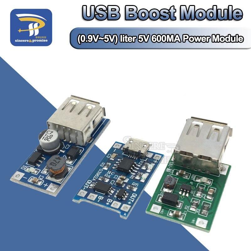 DC-DC Boost módulo (0,9 V ~ 5 V) 600mA impulso convertidor módulo de energía móvil USB Placa de refuerzo