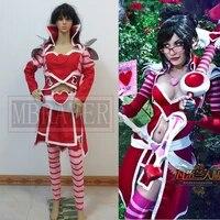 halloween costume for women lol vn vayne red cosplay costume full set