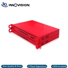 6GBe/6 * RJ45 Gbe LAN rack 1U Pfsnese serveur de pare-feu Barebone prenant en charge i3/i5, processeur i7, option 2 * SFP