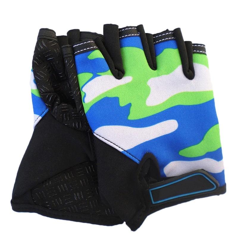 New breathable children riding half finger gloves high elasticity outdoor sports roller skating mountain bike kids gloves