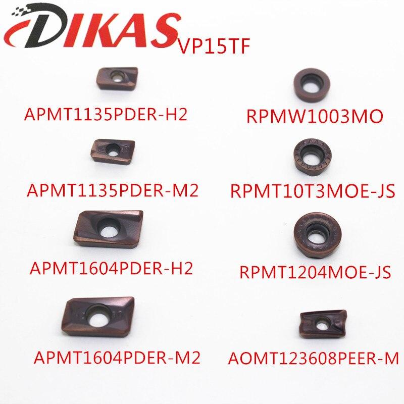 APMT1135PDER/APMT1604PDER H2/M2 RPMW1003MO RPMT10T3MOE RPMT1204MOE AOMT123608 VP15TF Mitsubishi Fresa Carboneto De Inserção