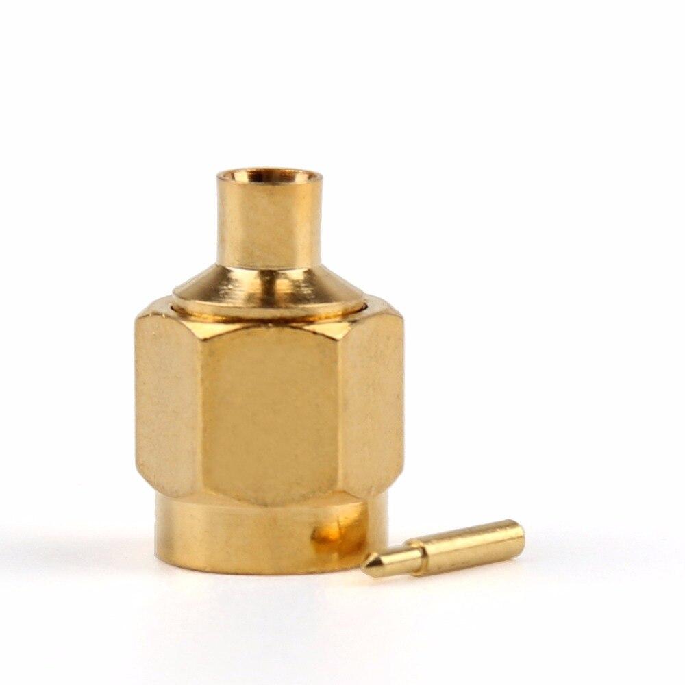 Conector macho Areyourshop SMA para soldar RG402 de 0.141 pulgadas, Cable semirrígido, recto, 10 uds, 50ohm, chapado en oro
