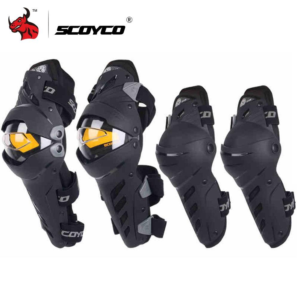SCOYCO de rodilla codo Combo rodillera para los hombres de deporte guardia Motocross Protector de Motocicleta joelheiras
