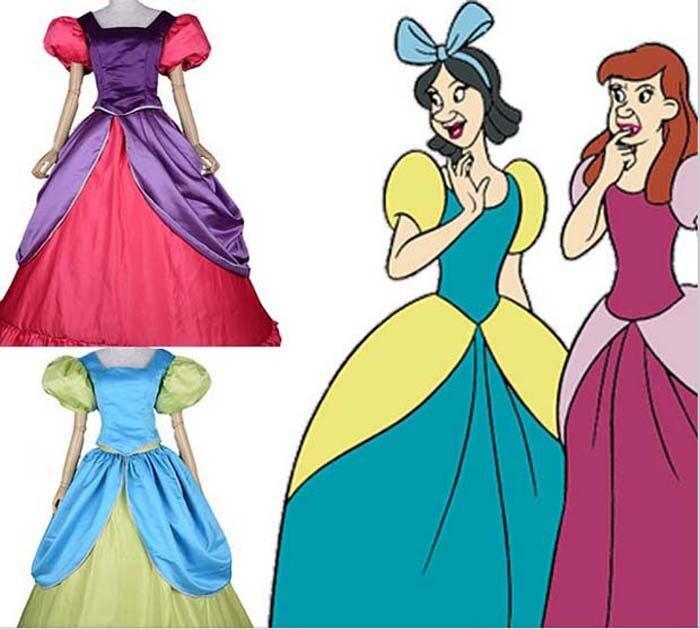 Новое поступление, взрослая Золушка, костюмы сестер, Anastasia Drizella, ТРАПЕЦИЕВИДНОЕ ПЛАТЬЕ Золушки, карнавальный бальный костюм