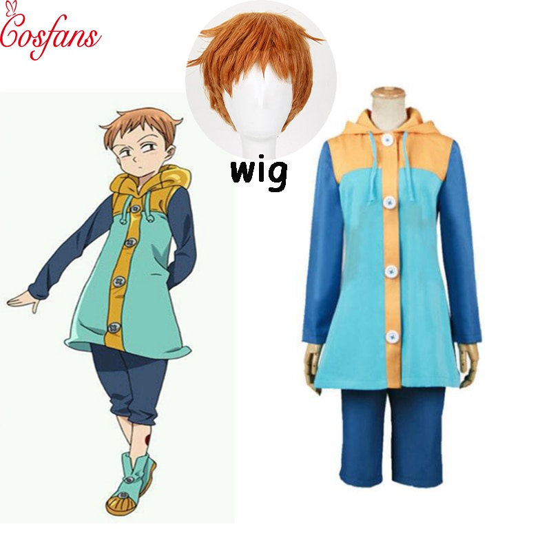 2019 New Sin of Sloth Harlequin king The Seven Deadly Sins Nanatsu No Taizai Cosplay Costume Full Se