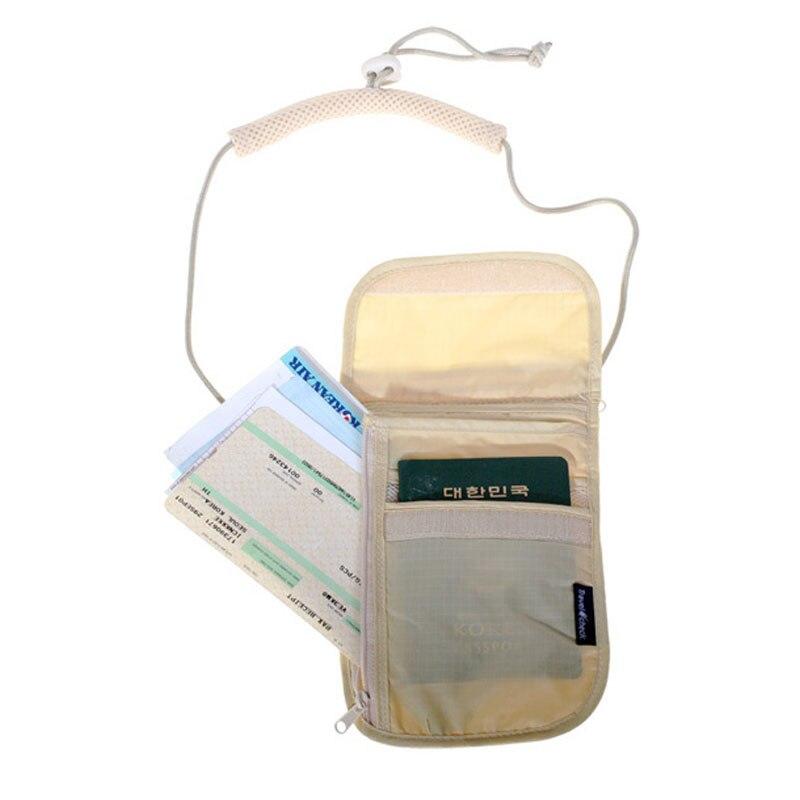 Unissex dinheiro bolsa pescoço bolsa bolsa feminina bolsa de armazenamento de viagem dinheiro moeda cartões passaporte titular pescoço bilhetes bolsa