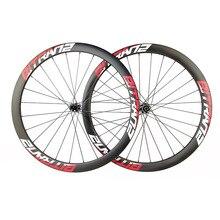 42mm asimetrik yol disk karbon tekerlekler 700C kattığı tubeless 25 mm CX bisiklet jantlar D411SB D412SB 9mm QR 12mm 15mm 135mm 142mm