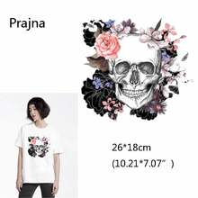 Squelette Punk Rock gothique   Patch squelette de Rose pour hommes transferts de chaleur pour vêtements Thrasher. Transfert thermique pour t-shirt   Pour T Shirt D