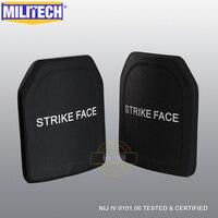MILITECH Two PCS SIC & PE NIJ IV Bulletproof Plates NIJ IV Stand Alone Ballistic Panels NIJ level 4 Composite Armor Set ESAPI