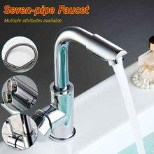 Mitigeur robinets de salle de bains   Pivotant à 360 degrés lavage facile pour évier de lavabo et robinet de cuisine avec tuyaux de 60cm