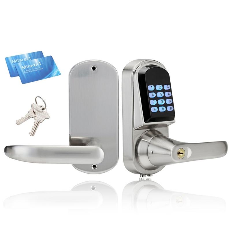 Интеллектуальный электронный дверной замок смарт-Клавиатура замок на дверь сейфа цифровой замок локера разблокировка по коду, 2 M1 карта, ме...