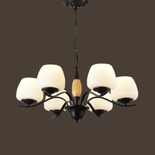 HGHomeart 110 V/220 V E27 Spirale Eisen Klassische Moderne Kronleuchter LED Wohnzimmer Kronleuchter Baby Suspension Lampe Beleuchtung