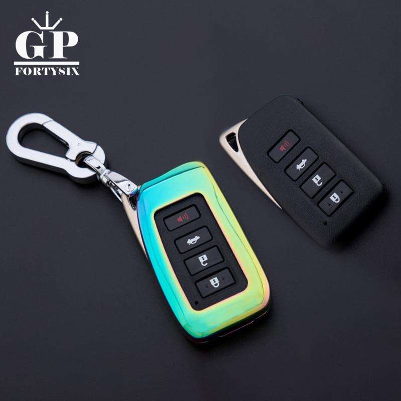Carcasa de aleación de Zinc para llave de coche + anillo para llavero de metal para Lexus RX200 ES200 ES250 ES300h NX200t GSI carcasa de llave de mando a distancia de coche