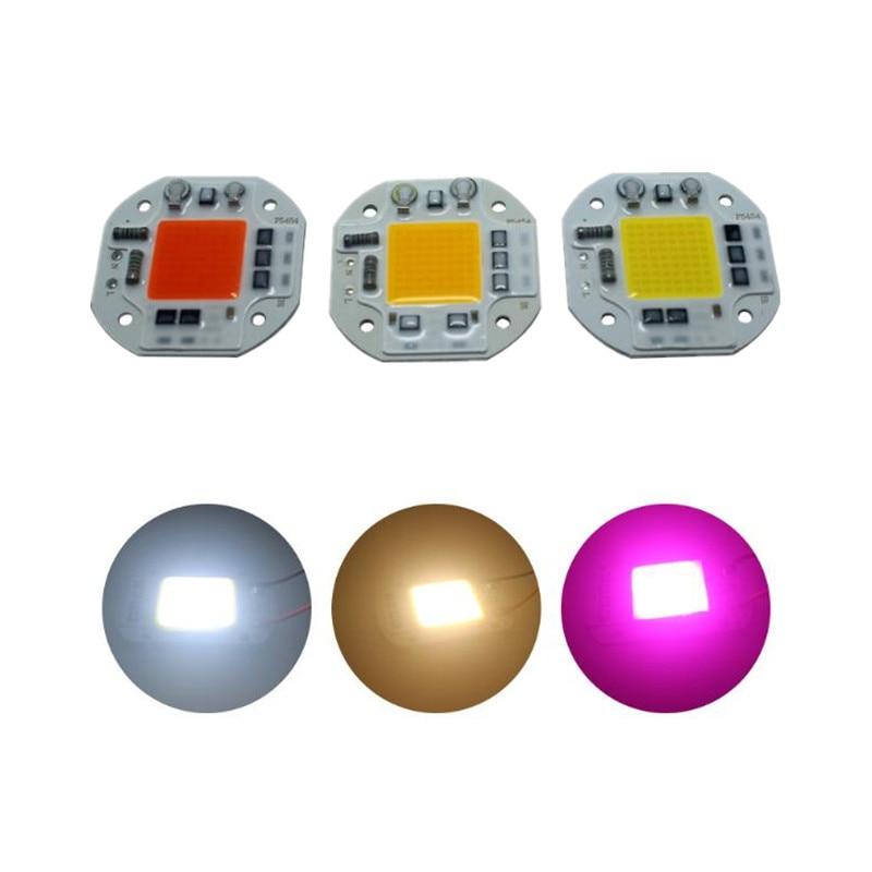 Chip de mazorca LED AC220V 110 V 20 W 30 W 50 W blanco cálido Módulo de reflector de espectro completo 3000 6000 k crecimiento de la Planta 1 piezas