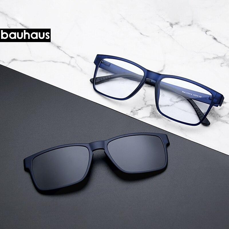 Gafas de calidad óptica de gama alta, montura de Clip en imanes, gafas de miopía polarizadas, gafas de sol, montura de gafas para hombre