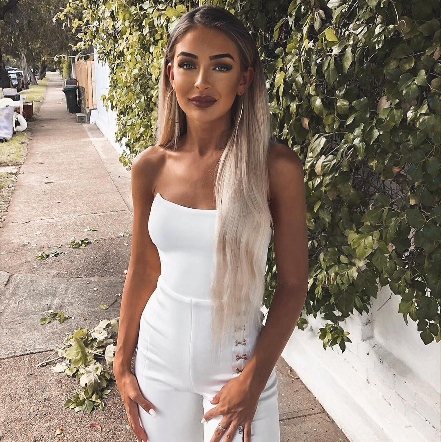 2019 New Women Jumpsuit  white strapless off shoulder Celebrity evening party bodycon Rompers Bandage jumpsuits