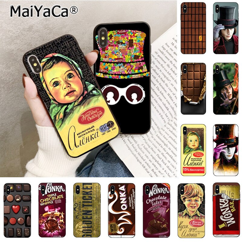 Maiyaca alenka bar chocolate wonka de silicona suave cubierta del teléfono TPU para iPhone 11 pro max 8 7 6 6S plus X Xs X Xr XsMax 5 5s cubierta