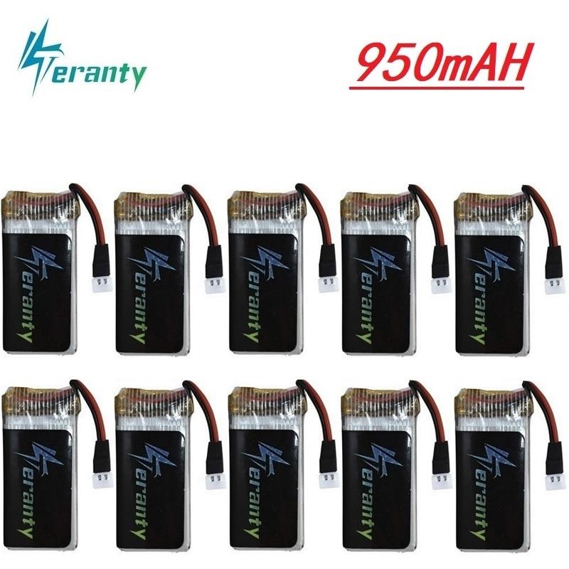 Аккумулятор 3,7 В 950 мАч для квадрокоптера Syma X5 X5c X5c-1 X5s X5sw X5sc V931 H5c, запасные части для дрона X5c 3,7 В, 1 шт.-10 шт.