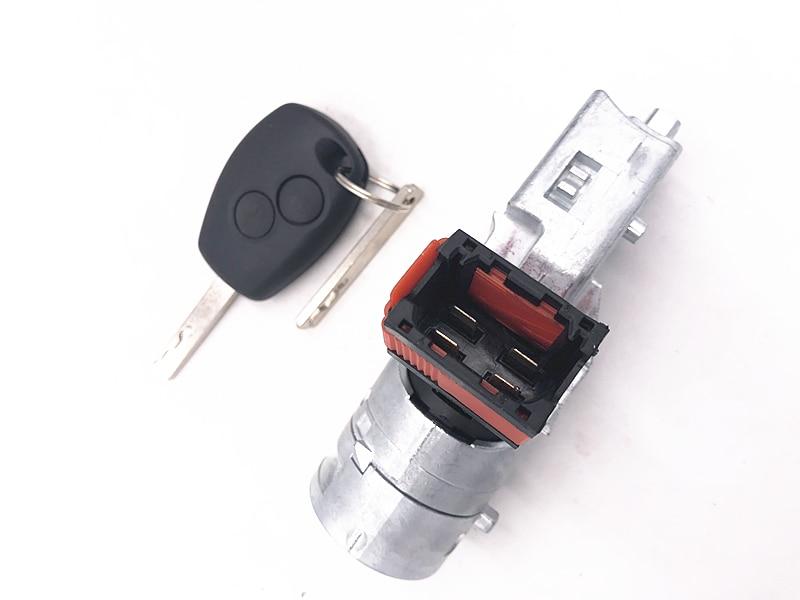 Замок зажигания ствол стартер переключатель + ключ для Renault для Vauxhall Fiat 2005-2012 7701208408 8200214168 N0502064 N0502060 N0502057