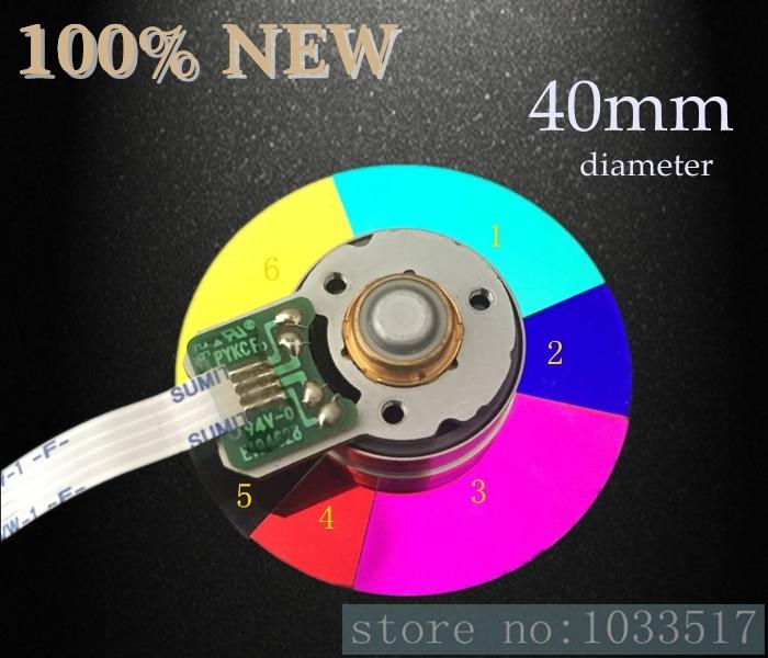 جهاز عرض عجلة ملونة ، قطر 40 مللي متر ، لـ optoma DB3601 DT3601 ، 6 ألوان