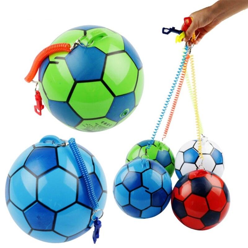 Nueva pelota de fútbol inflable con cuerda deportes pelota de juguete para niños pelota de malabares al aire libre