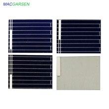 MACRAGSEN 100 piezas panel solar 0,5 V módulo de energía solar fotovoltaica 17*13mm 70mA 20*19,5mm cargador de batería Solar para coche 125mA DIY