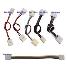 Câble de connexion à double clip 5-100 pièces   2pin 3pin 4pin 5pin 6pin, pour 3528 WS2812 5050 RGB RGBW RGBWW lumière de bande
