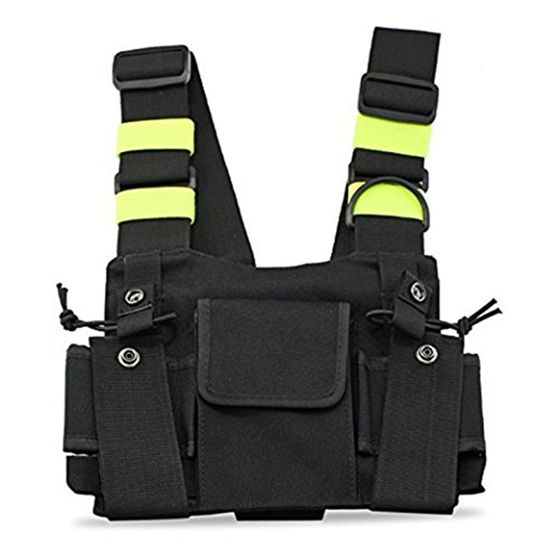 Outdoor Tactical Vest Radio Harness Chest Front Pack Pouch Holster Vest Rig bag for Walkie Talkie Tactical Headsets & Accessorie army tactical carrier armor chest rig vest harness rifle pistol magazine pouch crx hunting equipment accessories 5 56