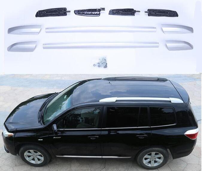 High Quality Aluminium Alloy Car Roof Rack Baggage Luggage Bar Fits For Toyota HighLander 2009 2010 2011 2012 2013 2014