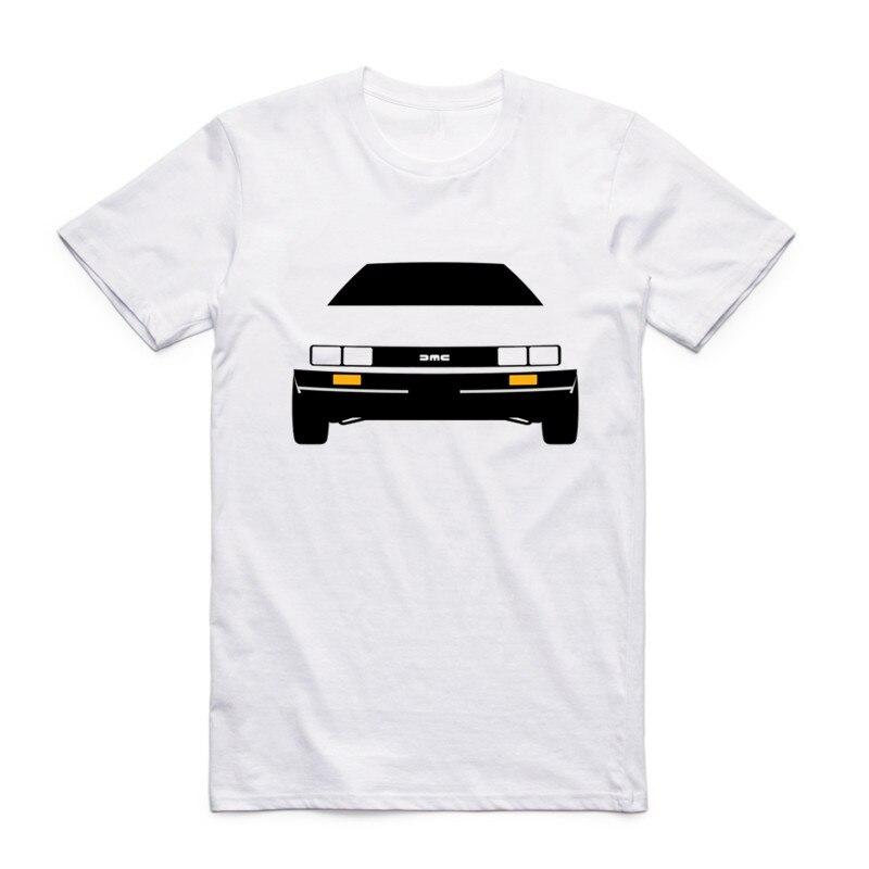 패션 남자 인쇄 DMC DeLorean 재미 있은 t-셔츠 o-넥 반팔 여름 스타일 Streetwear 멋진 위로 미래 탑스 티셔츠