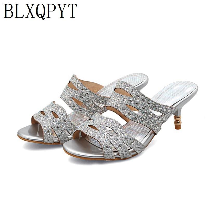 Sandalias BLXQPYT para Mujer 2019, zapato femenino, tallas grandes 32-45, Sandalias de playa informales para Mujer, zapatillas de fiesta, zapatos de Mujer 633-11