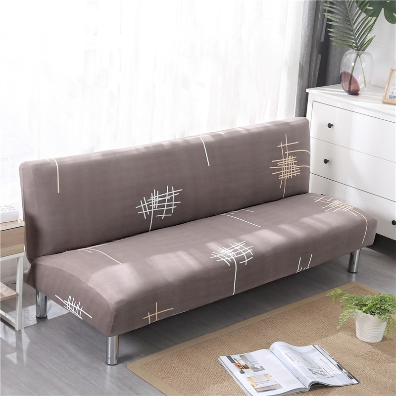 Funda de sofácama sin brazos de tamaño Universal fundas plegables para asiento fundas elásticas baratas fundas plegables para sofá fundas elásticas plegables para banco