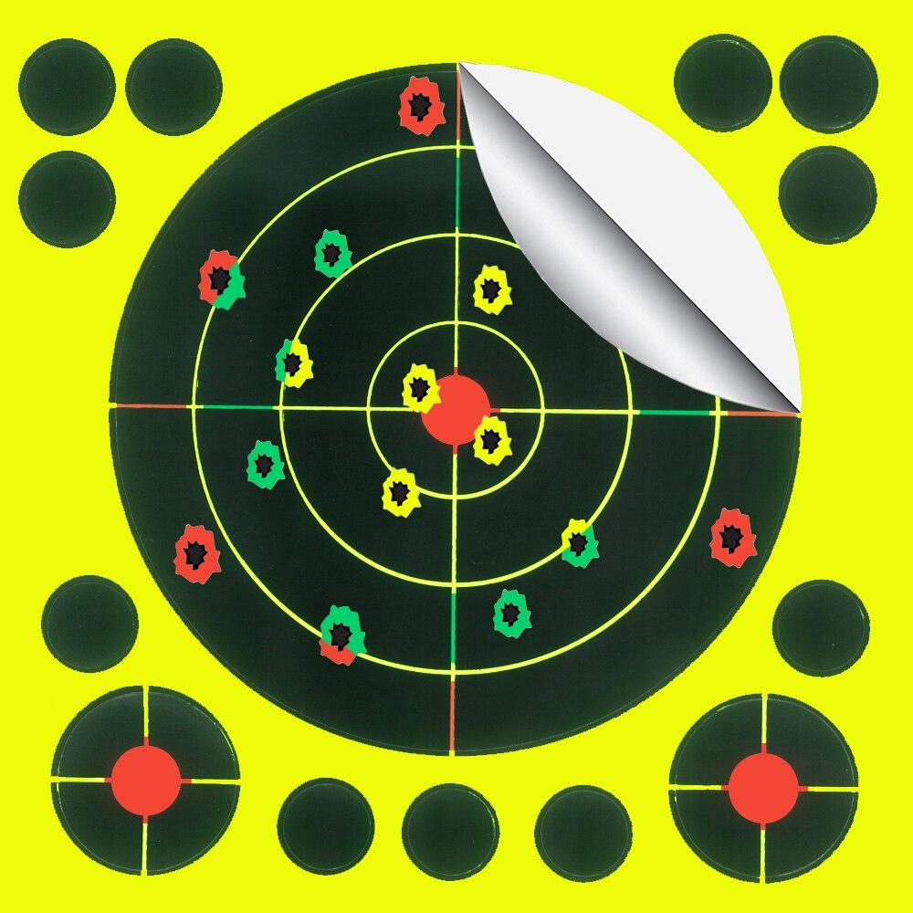 "5.5 ""x 5.5"" triplo cores reativas e splatter alvos de tiro para pistola-rifle-airsoft-pistola de pelota-rifle de ar"