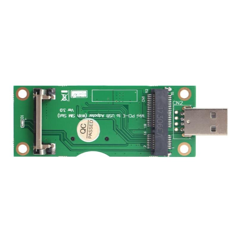Mini PCI-E to USB Adapter with SIM 8Pin Card Slot for WWAN/LTE Module Mini Card to Desktop PC Support SIM 6pin/8pin Card Connect