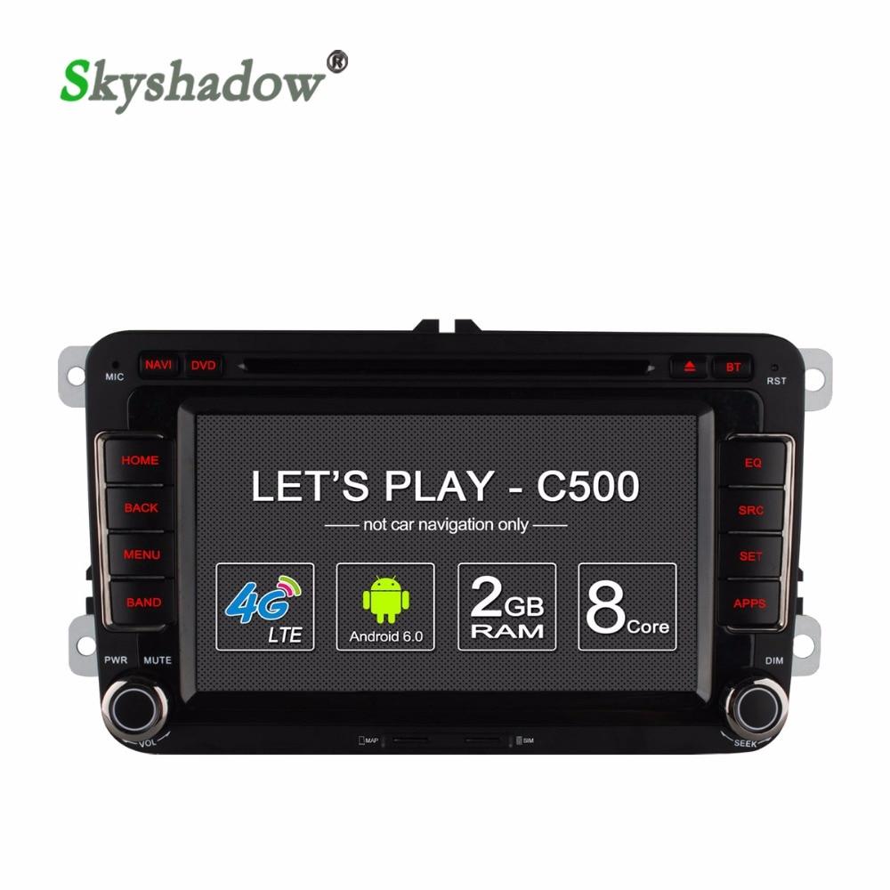 Ownice c500 1024*600 Android 6.0 dvd-плеер Автомобиля 8 Core Для VW Amarok Touran New Бетл 2 Multivan T5 WI-FI BT GPS Радио 2ГБ RAM 32ГБ ROM Поддержка DVR камера заднего вида TPMS OBD TV tunner