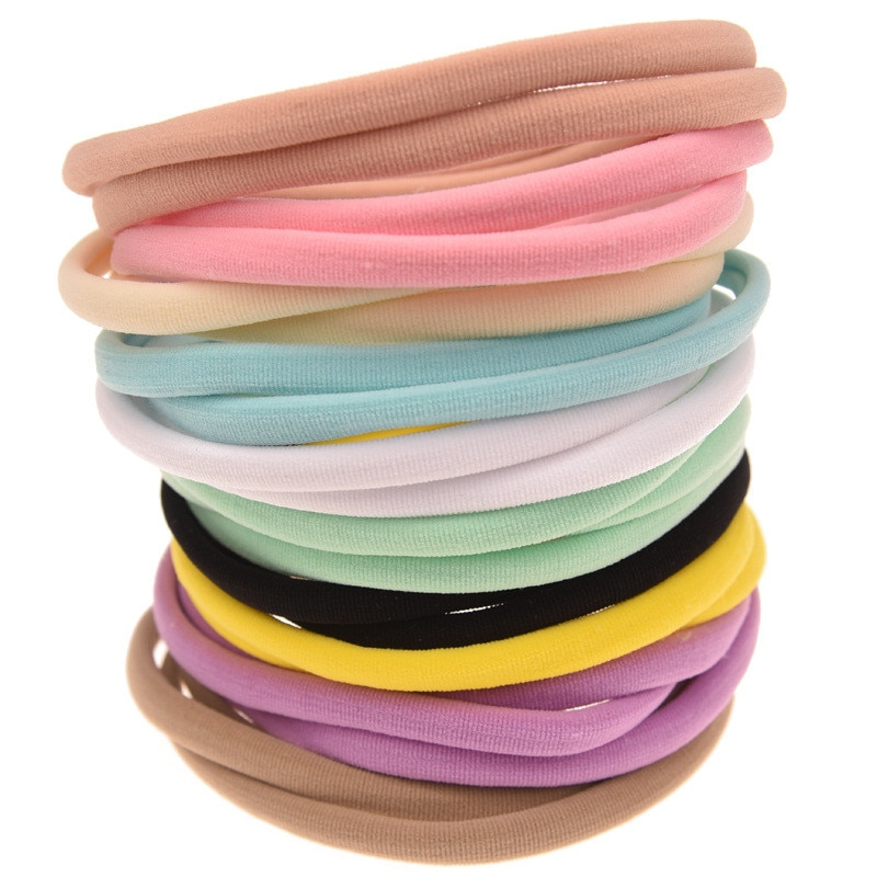 10pcs/lot Nylon Headband for Baby Girl DIY Hair Accessories Elastic Head Band Kids Children Fashion Headwear baby turban