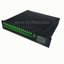 Wdm sc/apc 광섬유 포트가있는 16 웨이 catv 1550nm 광 증폭기 23dbm edfa 듀얼 전원 공급 장치 220 v 또는 48 v