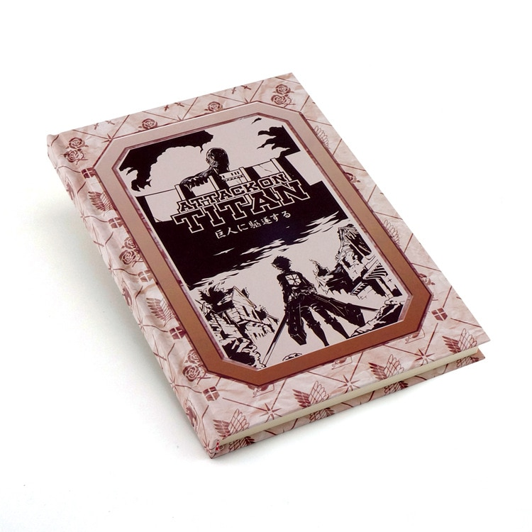 Attack on Titan cosplay notebook Anime Eren Levi cartoon logo pocketbook Collectible Exquisite free shipping
