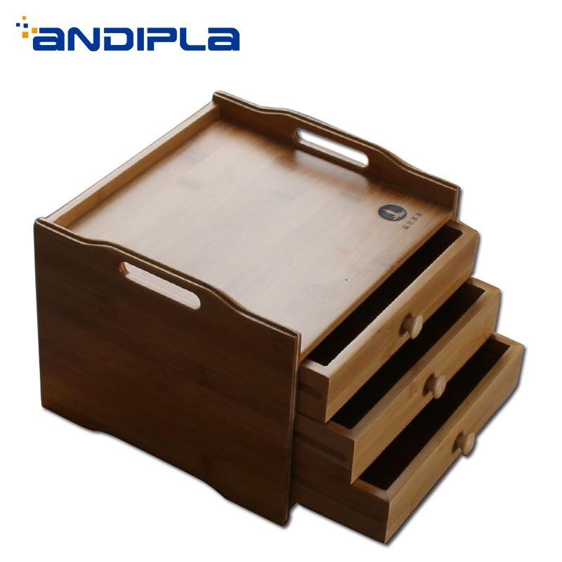 صندوق تخزين من الخيزران الطبيعي ، متعدد المستويات ، درج ، للشاي ، صينية ، فاصل الكيك ، ملحقات الشاي