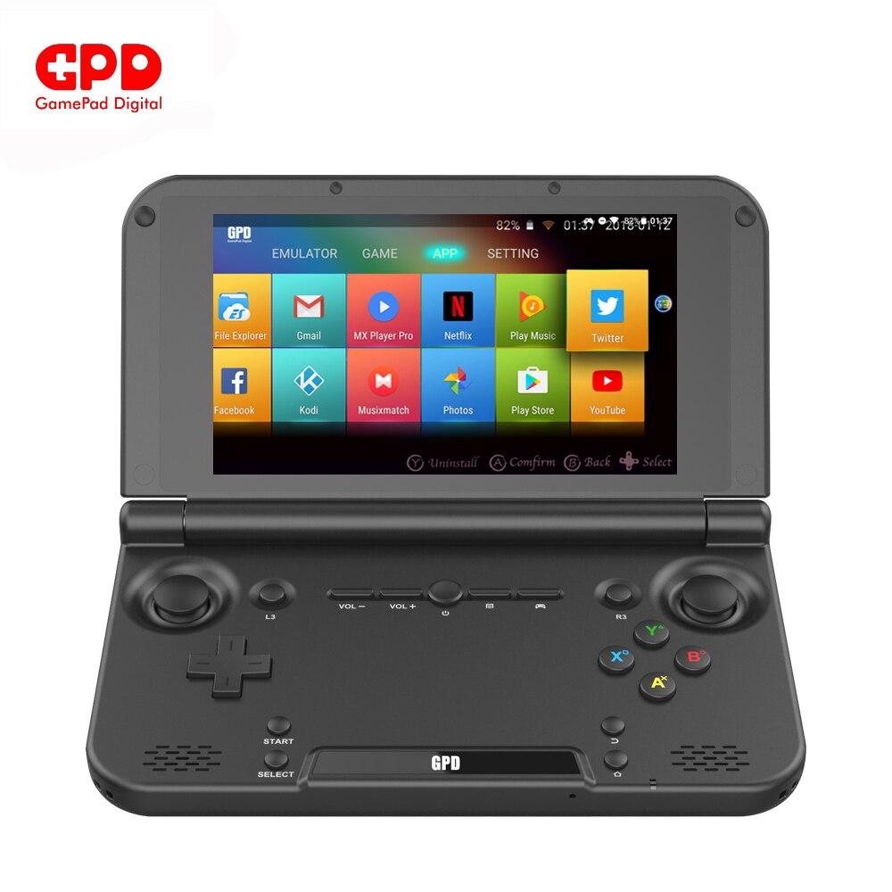 Nouveau Original GPD XD Plus 5 pouces 4 GB/32 GB Android 7.0 CPU MT8176 hexa-core ordinateur portable Console de jeu portable (noir) en vente
