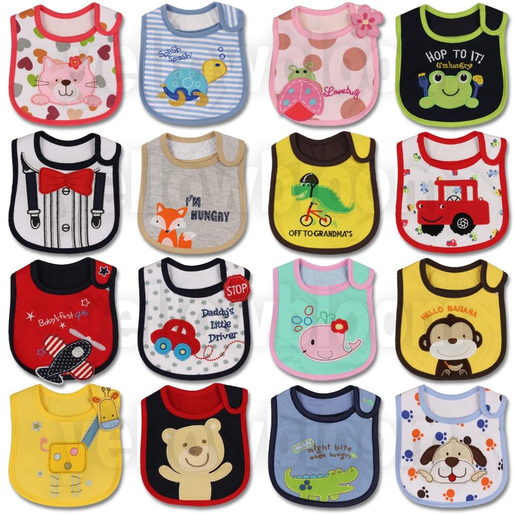 Baby Girl Boy Feeding Bibs Waterproof Apron Cartoon Towel Kids Toddler Dinner baberos Bandanas Burp Cloths