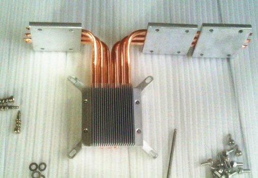 Тепловая трубка diy, термотрубка 6, зажим для внутренней материнской платы, бесшумная система, тепловая труба HTPC, радиатор, процессор, теплоот...